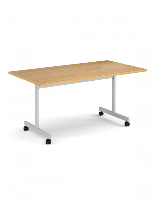 Oak Table - Flip Top Meeting Table 1600mm FLP16-S-O