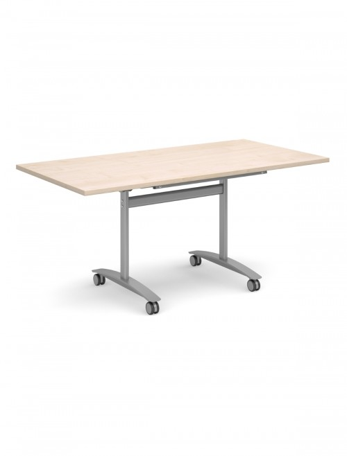 Maple Table - Deluxe Flip Top Meeting Table 1600mm DFLP16-S-M