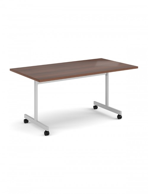 Walnut Table - Flip Top Meeting Table 1600mm FLP16-S-W