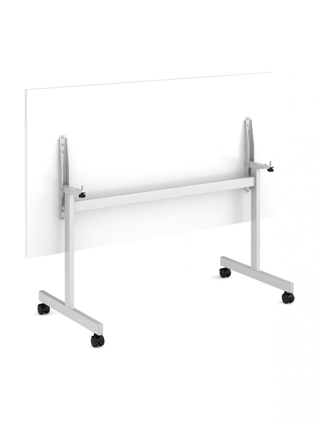White Table - Flip Top Meeting Table 1200mm FLP12-S-WH