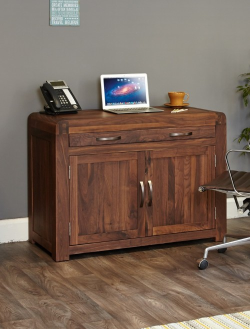 Home Office Desk - Computer Desk Bureau Baumhaus Shiro Walnut CDR06A