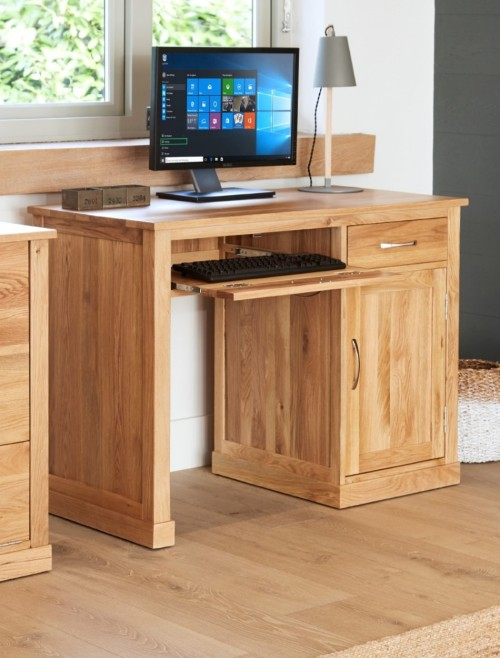 Home Office Desk - Computer Desk Baumhaus Mobel Oak COR06B