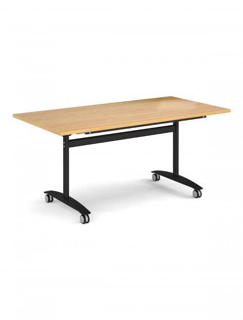 Oak Table - Deluxe Flip Top Meeting Table 1600mm DFLP16-K-O