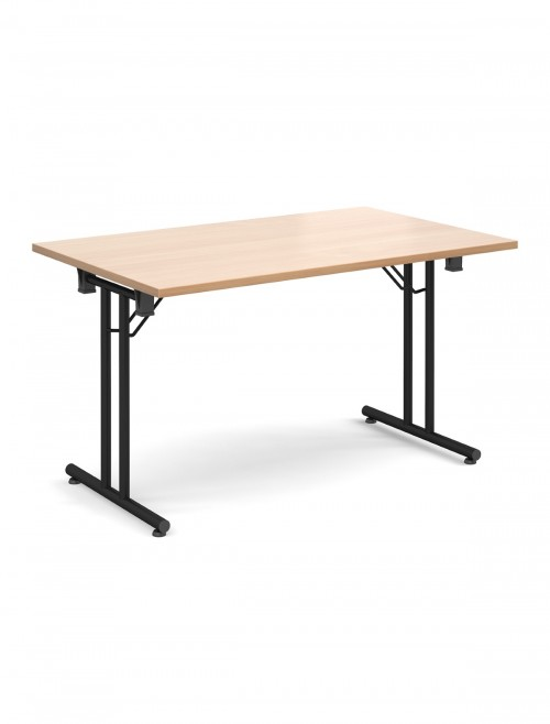 Beech Table - Straight Folding Leg Meeting Table 1400mm SFL1400-K-B