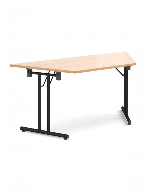 Beech Table Trapezoidal Straight Folding Leg Meeting Table 1600mm SFL1600T-K-B