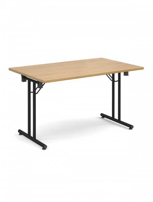 Oak Table - Straight Folding Leg Meeting Table 1400mm SFL1400-K-O