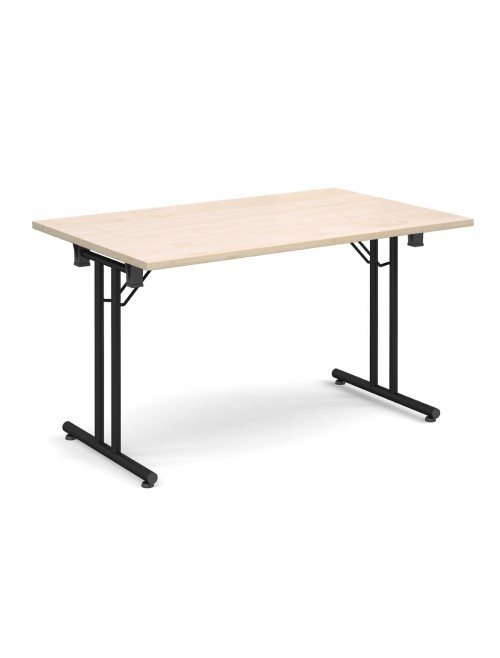 Maple Table - Straight Folding Leg Meeting Table 1400mm SFL1400-K-M
