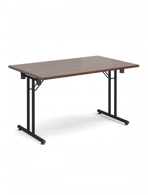 Walnut Table Straight Folding Leg Meeting Table 1600mm SFL1600-K-W