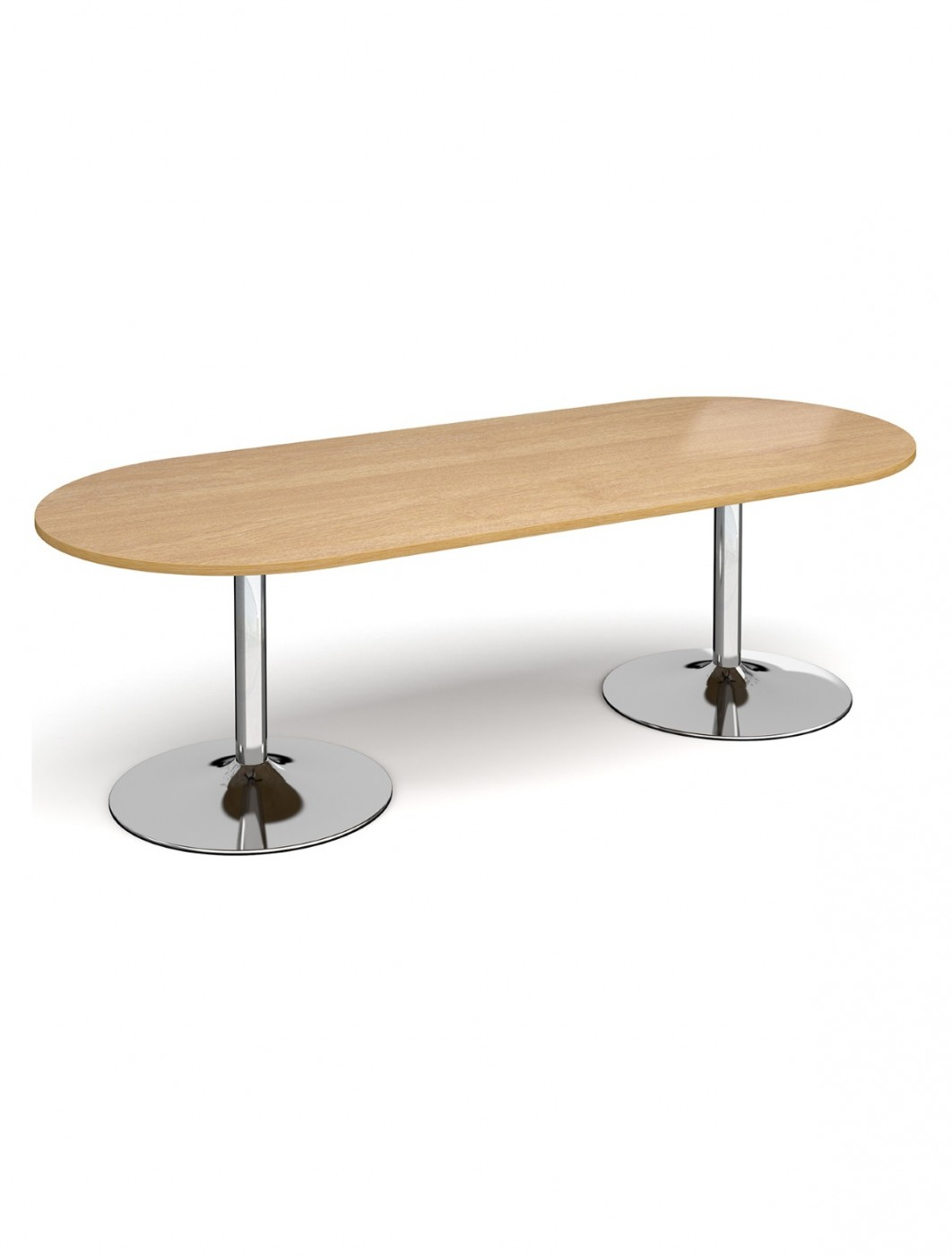 Dams Radial End Boardroom Table TB24-C - Chrome Trumpet Base