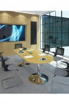 Dams Circular Boardroom Table with Chrome Trumpet Base TB12C-C - enlarged view