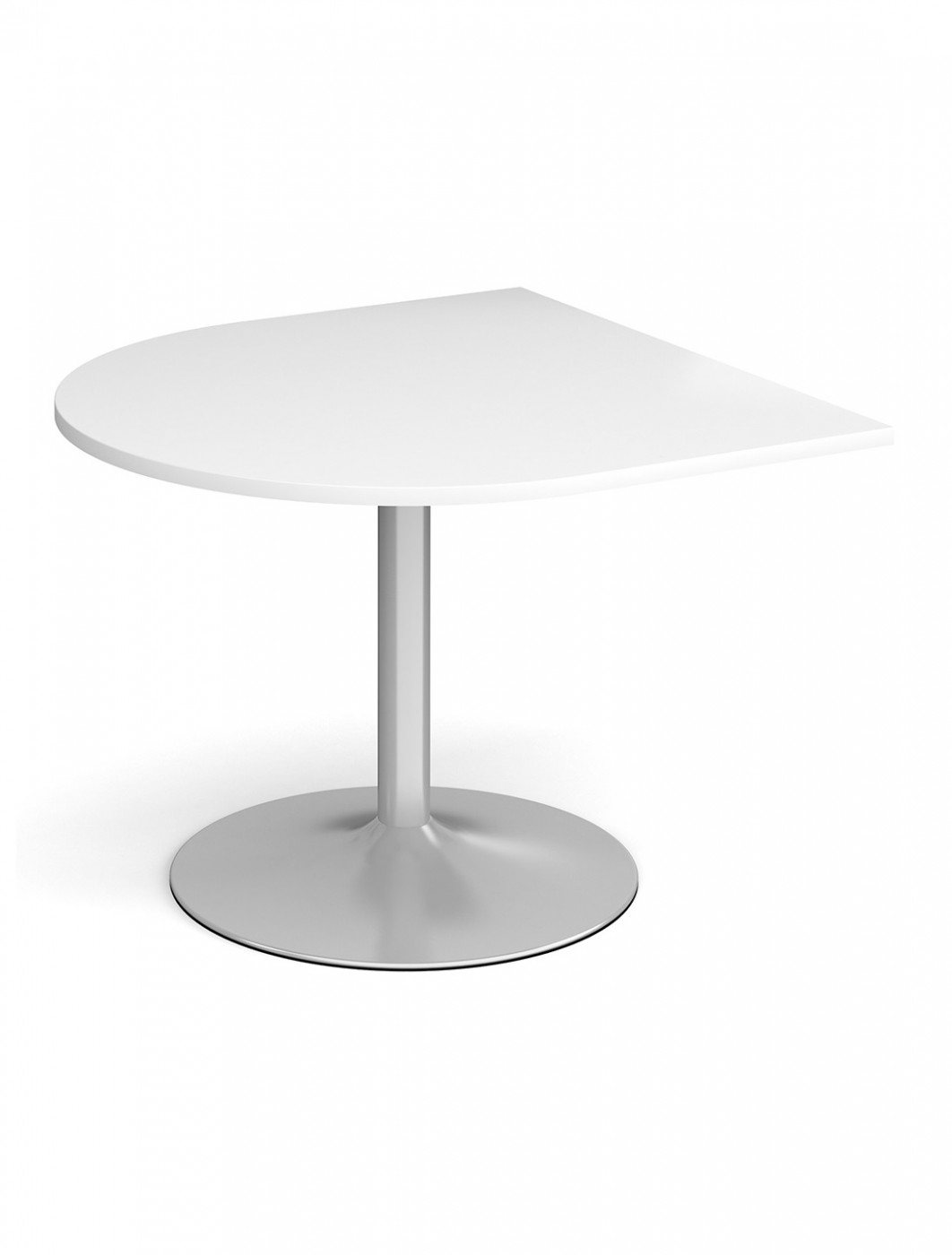 Dams Radial Extension Table with Silver Trumpet Base TB10D-S