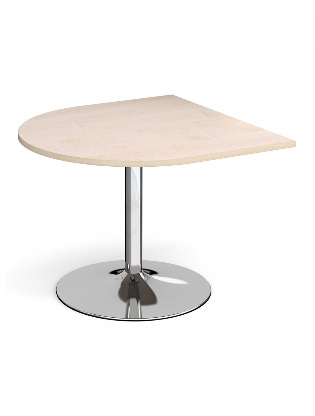 Dams Radial Extension Table with Chrome Trumpet Base TB10D-C