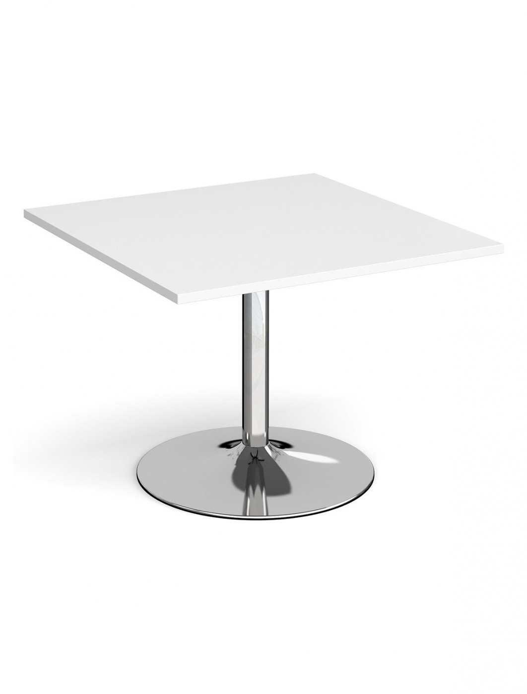 Dams Square Extension Table with Chrome Trumpet Base TB10-C