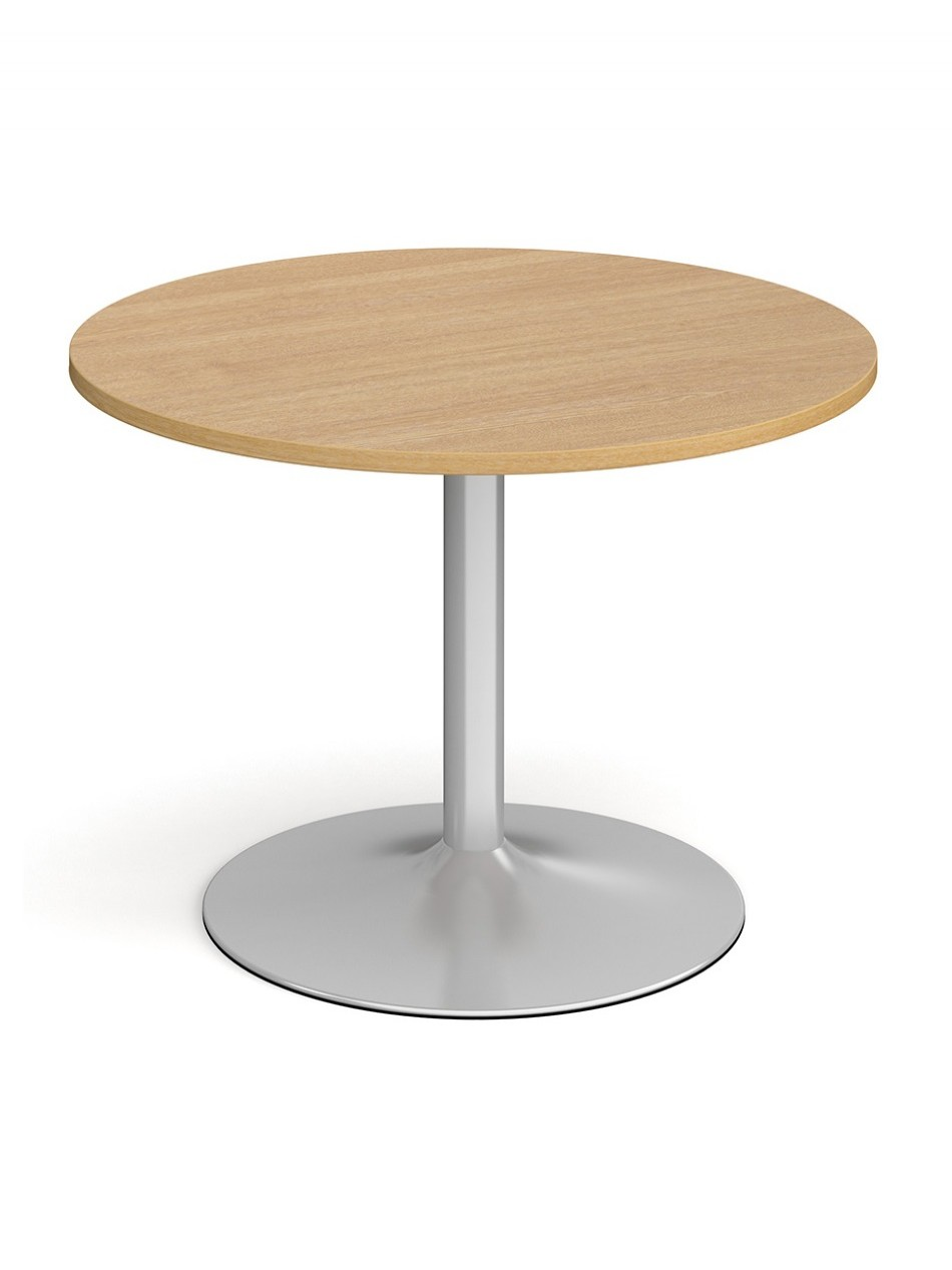 Dams Circular Boardroom Table with Silver Trumpet Base TB10C-S