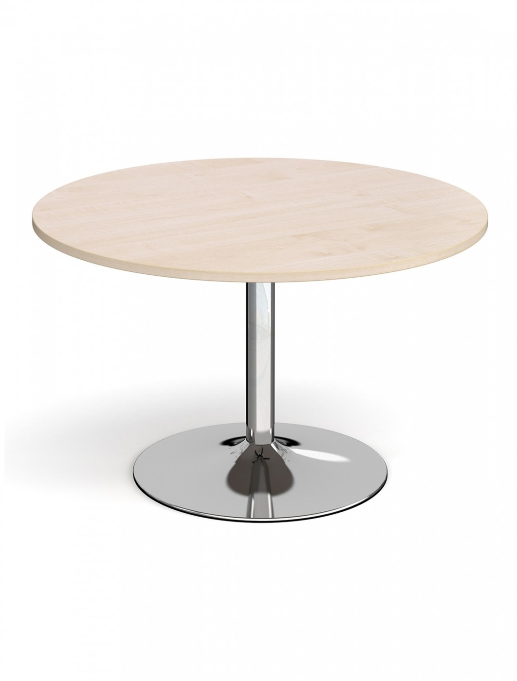 Dams Circular Boardroom Table with Chrome Trumpet Base TB12C-C