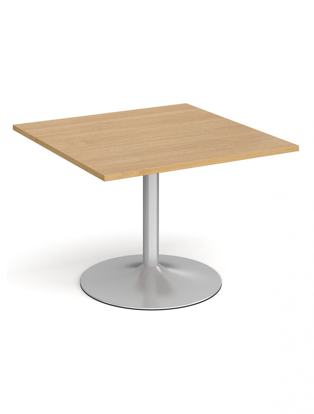 Dams Square Extension Table with Silver Trumpet Base TB10-S