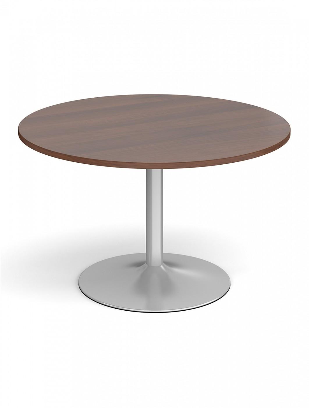 Dams Circular Boardroom Table Tb12c S Silver Trumpet