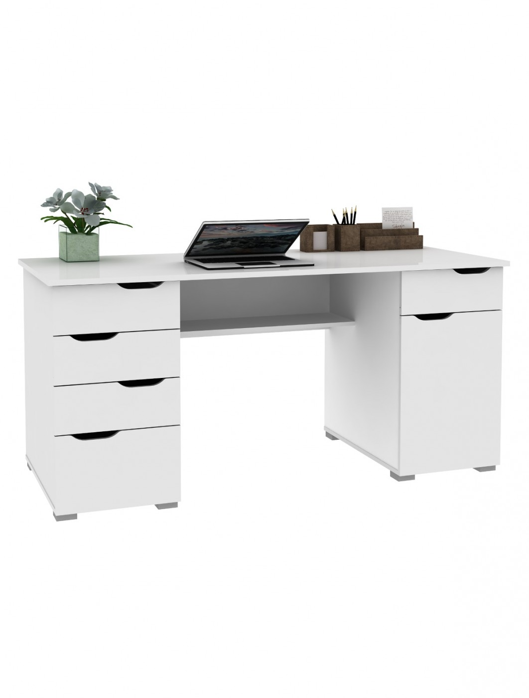 Swell Home Office Desks Alphason Kentucky Desk Aw1374Wht Home Interior And Landscaping Pimpapssignezvosmurscom