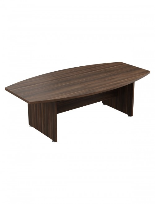 Dark Walnut Office Desks TC Regent Executive Boardroom Table 2400mm TR2410BTDW