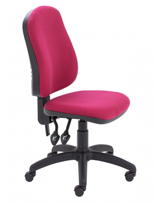TC LITE009 High Back 2 Lever Operator Chairs in Claret