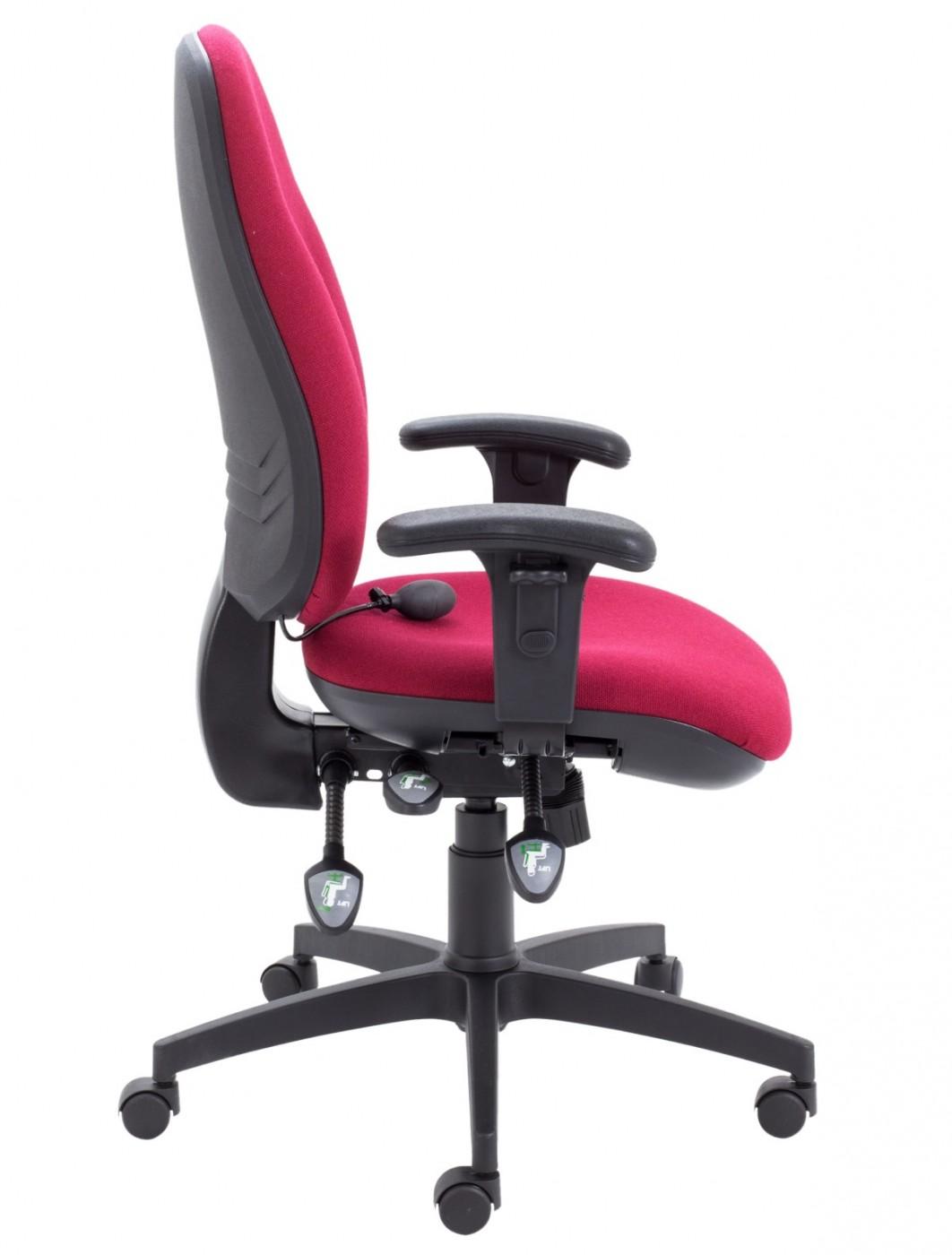 Fabulous Tc Office Concept Maxi Ergo Office Chair Ch0808 In Claret Machost Co Dining Chair Design Ideas Machostcouk