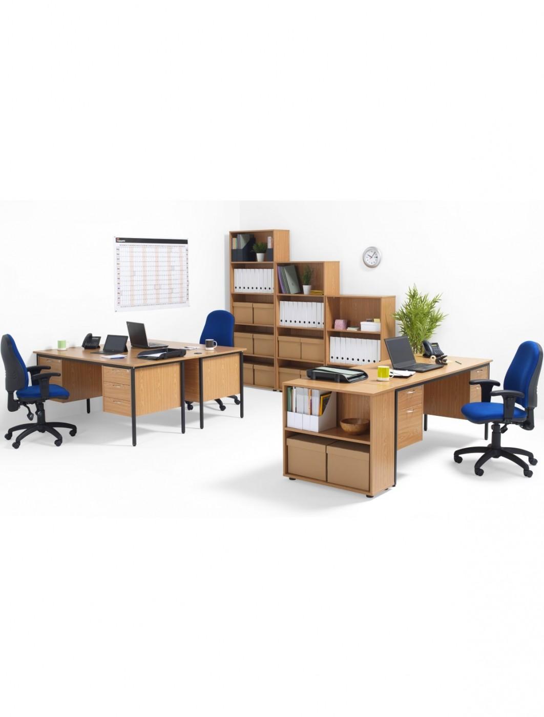 Home Office Furniture Uk Desk Set 18: Oak Office Desk 1786x746mm TC Start 18 Desk STB17RECDRW6OK