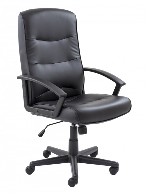 Office Chairs - TC Canasta II Black Office Chair CH0768