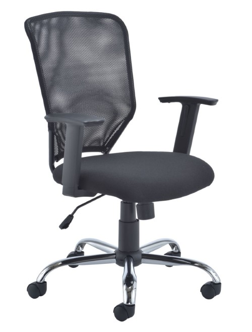 Office Chairs - TC Start Mesh Office Chair in Black CH1743BK