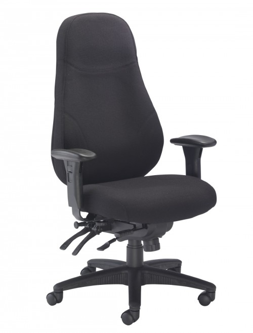 TC Office Cheetah High Back Fabric Office Chair CH1111BK
