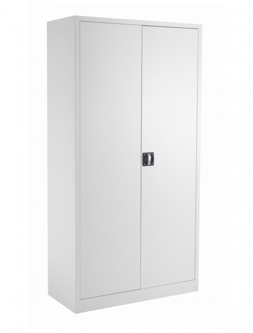Steel Storage - TC Talos 1790mm Steel Cupboard TCSDDC1790WH in White