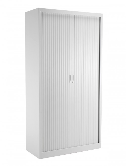 Steel Storage - TC Talos 1950mm Steel Tambour Cupboard TCSOT1950WH in White