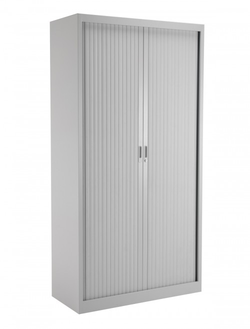 Steel Storage - TC Talos 1950mm Steel Tambour Cupboard TCSOT1950GR in Grey