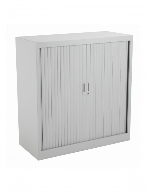 Steel Storage - TC Talos 1050mm Steel Tambour Cupboard TCSOT1050GR in Grey