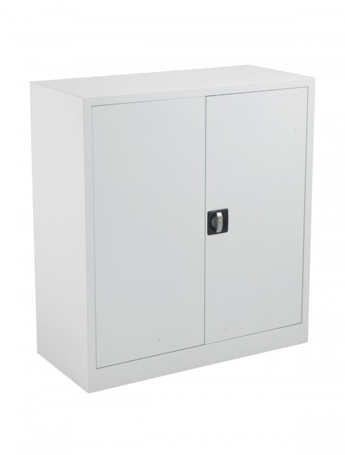 Steel Storage - TC Talos 1000mm Steel Cupboard TCSDDC1000WH in White