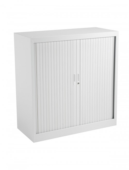 Steel Storage - TC Talos 1050mm Steel Tambour Cupboard TCSOT1050WH in White