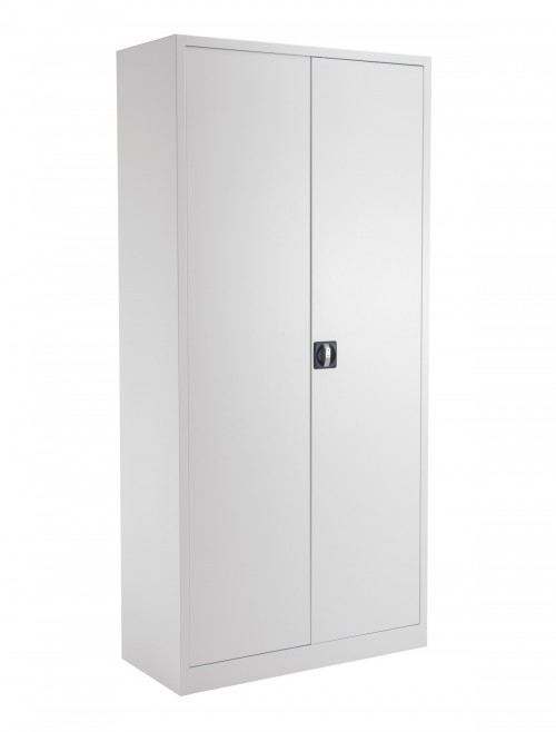 Steel Storage - TC Talos 1950mm Steel Cupboard TCSDDC1950WH in White