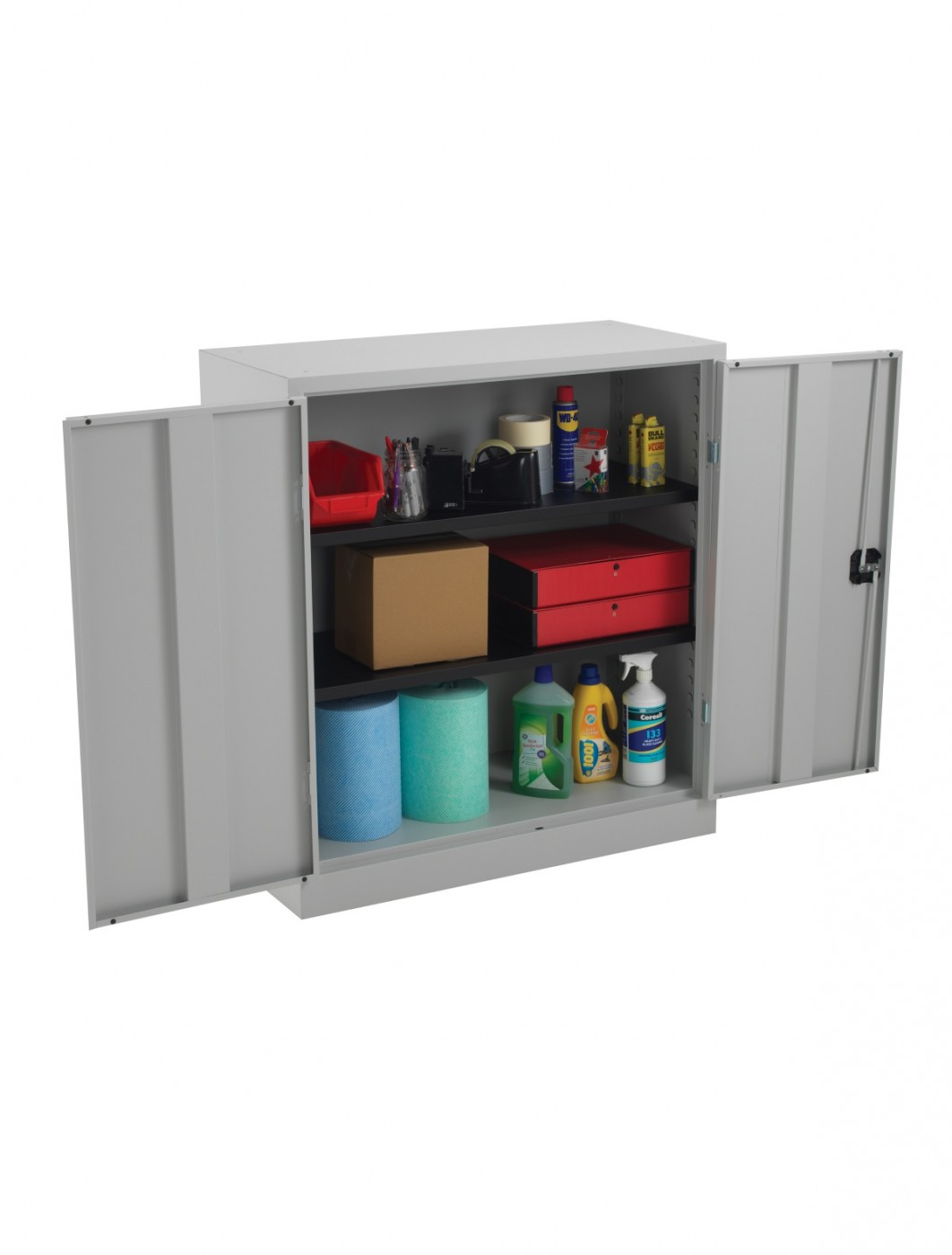 Steel Storage - TC Talos 1000mm Steel Cupboard TCSDDC1000GR in Grey