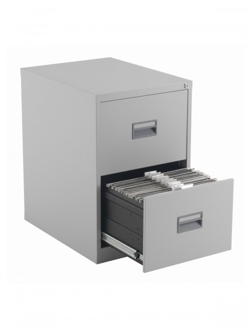 Steel Storage - TC Talos 2 Drawer Steel Filing Cabinet TCS2FC-GR in Grey