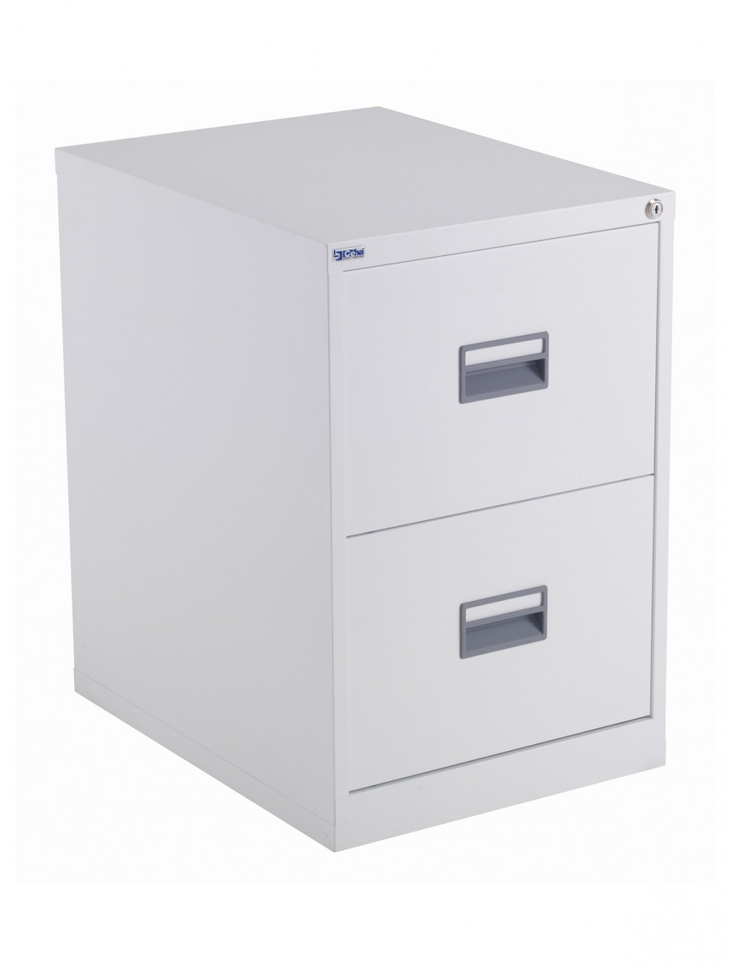 Steel Storage - TC Talos 2 Drawer Steel Filing Cabinet TCS2FC-WH in White