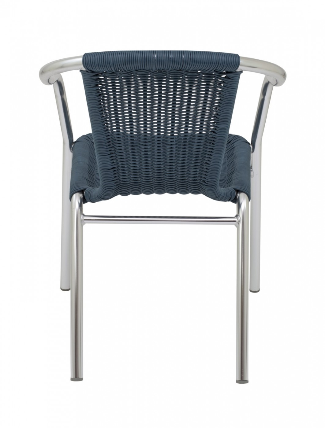 Bistro Chairs - TC Plaza Wicker Chair CH0660 - Blue or Natural Wicker