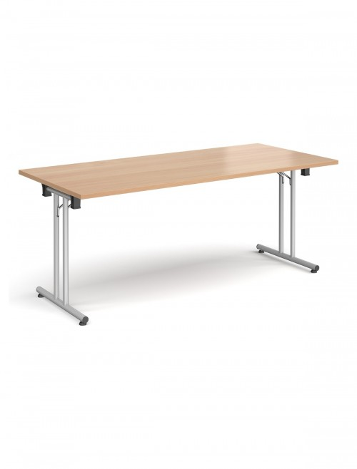 Beech Table - Straight Folding Leg Meeting Table 1800mm SFL1800-S-B