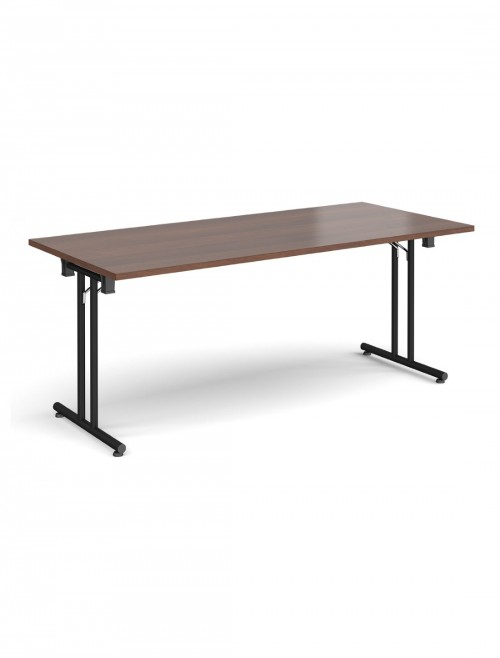 Walnut Table - Straight Folding Leg Meeting Table 1800mm SFL1800-K-W