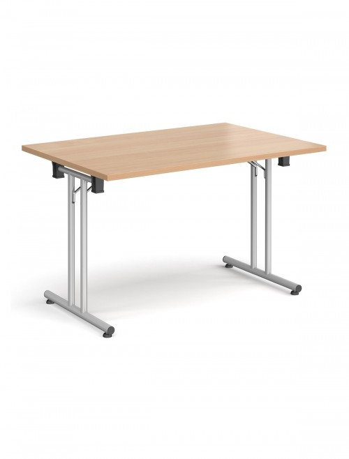 Beech Table - Straight Folding Leg Meeting Table 1200mm SFL1200-S-B
