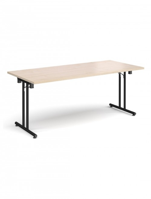 Maple Table - Straight Folding Leg Meeting Table 1800mm SFL1800-K-M