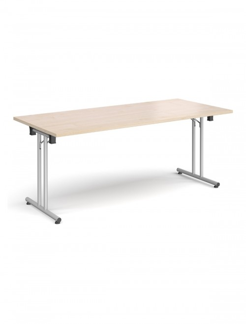 Maple Table - Straight Folding Leg Meeting Table 1800mm SFL1800-S-M