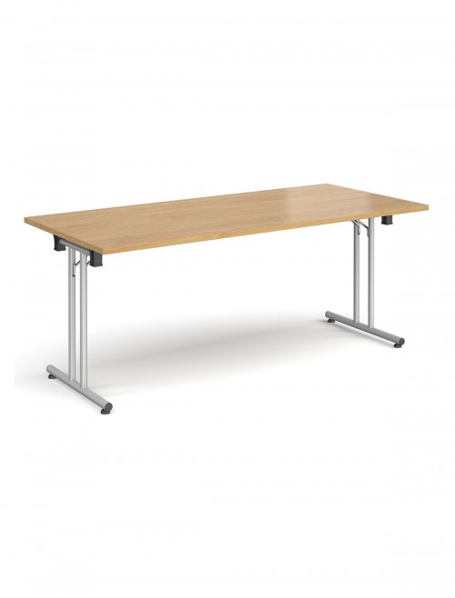 Oak Table - Straight Folding Leg Meeting Table 1800mm SFL1800-S-O