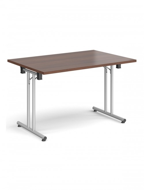 Walnut Table - Straight Folding Leg Meeting Table 1200mm SFL1200-S-W
