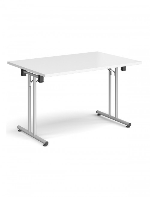 White Table - Straight Folding Leg Meeting Table 1200mm SFL1200-S-WH