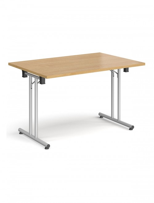Oak Table - Straight Folding Leg Meeting Table 1200mm SFL1200-S-O