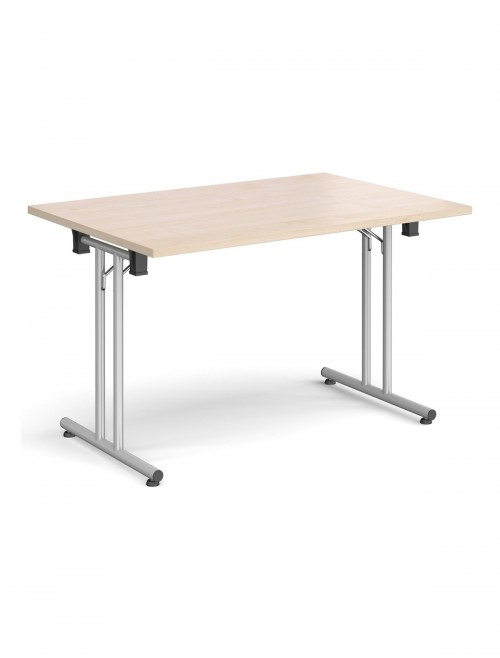 Maple Table - Straight Folding Leg Meeting Table 1200mm SFL1200-S-M